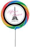 Paris theme lollipops