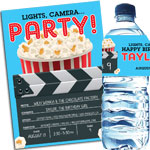 Movie clapboard theme invitations and favors