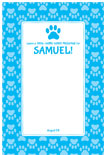 personalized dog theme sign in board
