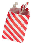 Red Striped Favor Bags (12)