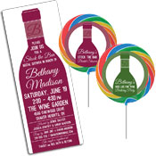 Wine theme shower invitations and favors