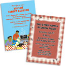 Personalized family reunion invitations, decorations and party supplies