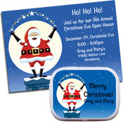 Santa Magic theme invitations and party favors