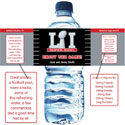 Super Bowl personalized water bottl labels