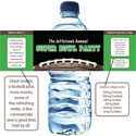 Super Bowl personalized water bottle labels