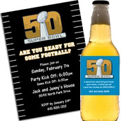 2016 Super Bowl 50 Invitations and Favors