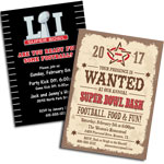 2017 Super Bowl 51 Invitations and Favors