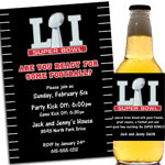 Super Bowl LI invitations and favors