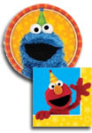 Sesame Street paper goods and party supplies