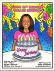 Semi custom caricature party invitations