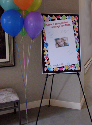 party411 personalized sign in boards bar and bat mitzvah birthday
