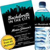 Skyline Theme Bachelorette Party Invitations and Supplies