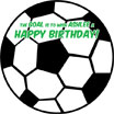 personalized soccer ball sign in board