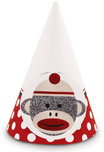 sock monkey cone hat