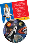 Space theme invitations and favors