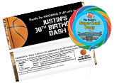 Sports theme party favors