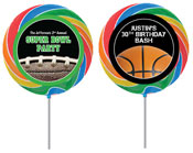 Sports theme custom lollipops