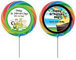 St Patricks Day personalized party favor lollipops