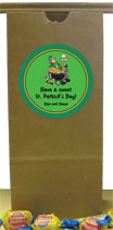 St. Patrick's Day personalized favor bags
