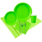 Lime green paper goods and party supplies