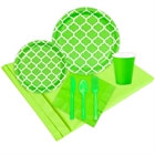 Lime Green Quatrefoil Paper Goods