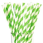 Lime Green Paper Straws