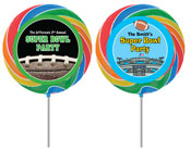 Personalized Super Bowl Lollipops