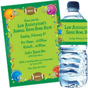 Super Bowl Football Gear Party Invitations and Favors