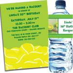 Tennis theme invitations and party supplies