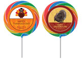 Thanksgiving celebration personalized lollipops