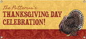 Personalized thanksgiving banners