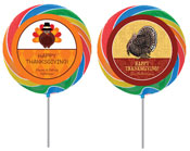 Thanksgiving theme personalized lollipops