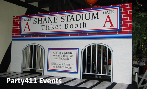 Bar Mitzvah Baseball Ticket Booth
