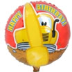 Construction Pals Truck Happy Birthday Mylar Balloon