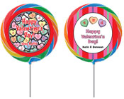 Valentine's Day personalized lollipops