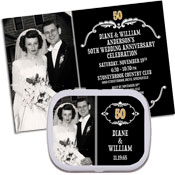 Vintage 50th anniversary photo invitations and favors