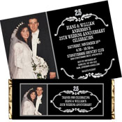 Vintage 25th anniversary photo invitations and favors