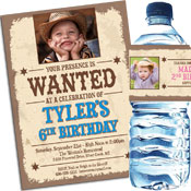 Wanted Poster Theme Western Invitations and Favors