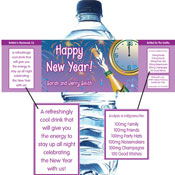 Custom New Year's eve waterbottle lables