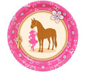 Western cowgirl theme paper goods and party supplies