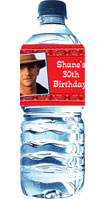 personalized western water label