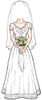 Custom Bride Lifesize Cutout
