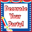 Election Theme Decorations and Party Supplies