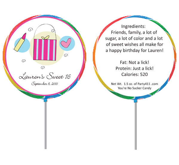 Custom Lollipop, Girls Theme