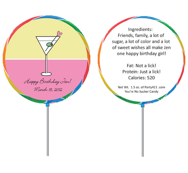 Custom Lollipop, Martini Theme