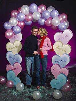 Candy Heart Balloon Arch