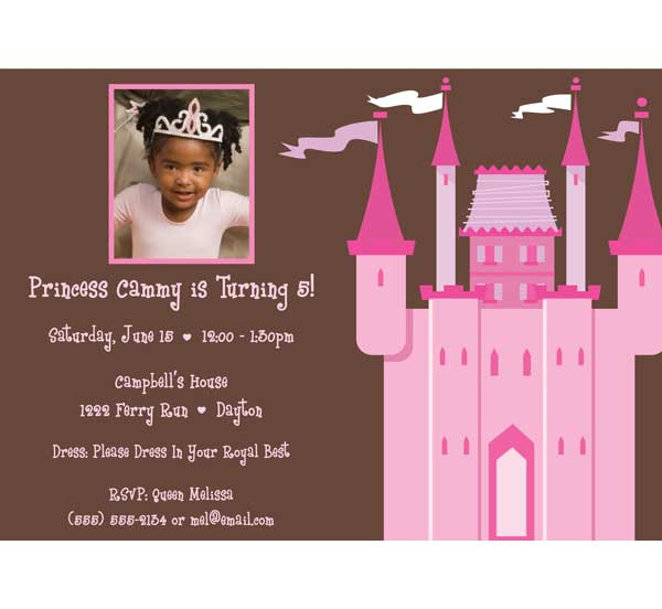 Birthday Castle Invitation