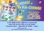 Casino Theme Corporate Party Invitations