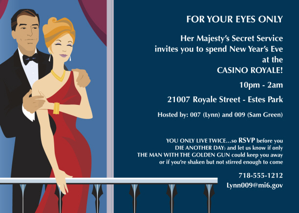 Casino Royale Invitation was good invitation template