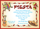 Fiesta Theme Invitation